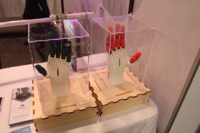 BrainCo's robotic hands are operated by EEG signals from the brain