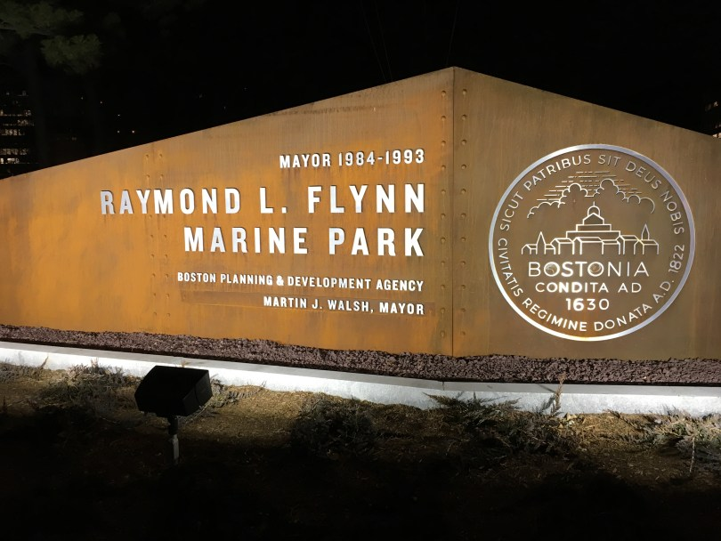 marine park sign