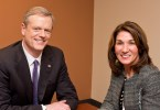 From left to right, Gov. Charles Baker and Lt. Governor Karyn Polito (R) have been Massachusetts' governor and lieutenant governor since 2015. Photo courtesy of Charlie Baker's campaign.