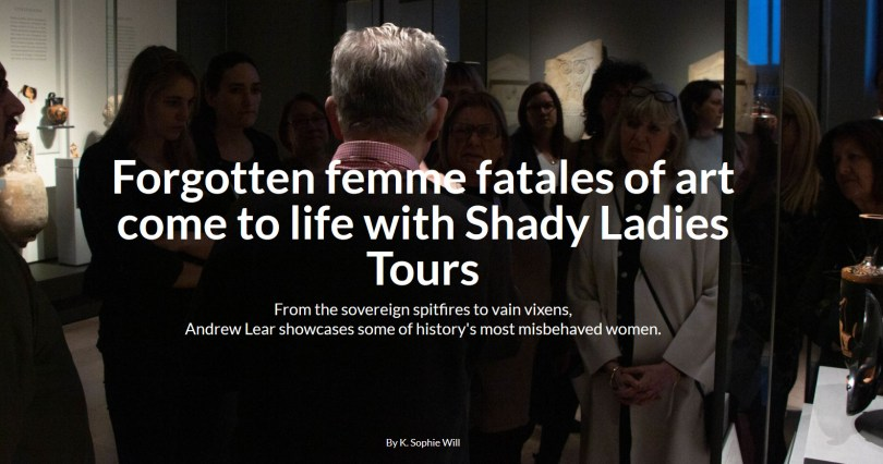 Image: Forgotten femme fatales of art come to life with Shady Ladies Tours