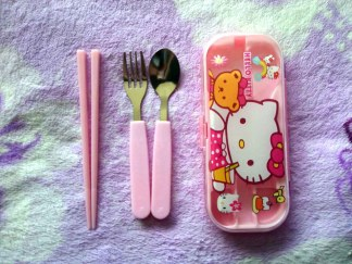 Sendok Anak Cartoon Stainless Steel Cutlery hello kitty