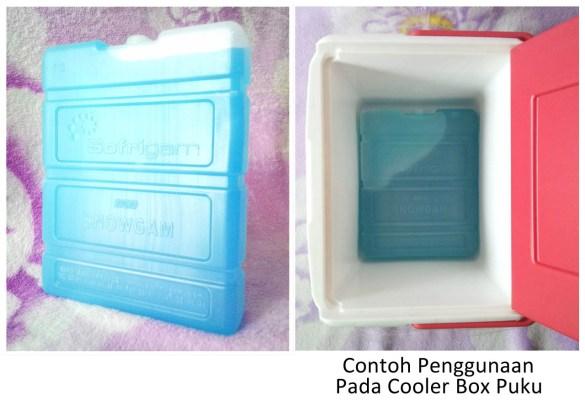 ice pack snowgam pada cooler box puku x