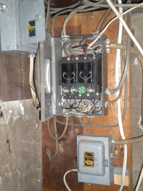 small resolution of old fuse box 60 amp first thing updated