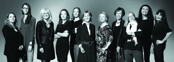 """The 11 award-winning female photojournalists who are featured in National Geographic's exhibition """"Women of Vision: National Geographic Photographers on Assignment,"""" which opened at the National Geographic Museum on Thursday, Oct. 10.  From left: Erika Larsen, Kitra Cahana, Jodi Cobb, Amy Toensing, Carolyn Drake, Beverly Joubert, Stephanie Sinclair, Diane Cook, Lynn Johnson, Maggie Steber and Lynsey Addario. Photo credit: Mark Thiessen/National Geographic"""