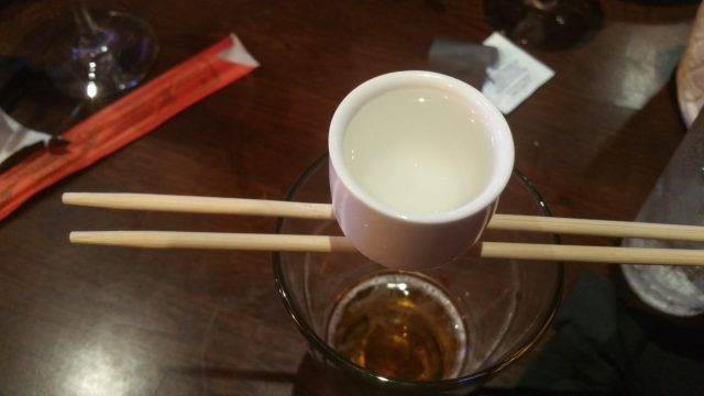 Before heading to the next restaurant we all had a Sake Bomb