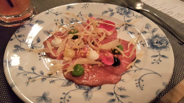 Beef Carpaccio at DoveCote