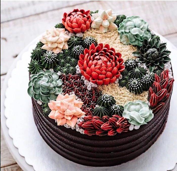 Bring To Orlando Succulent Cactus Cakes Bungalower