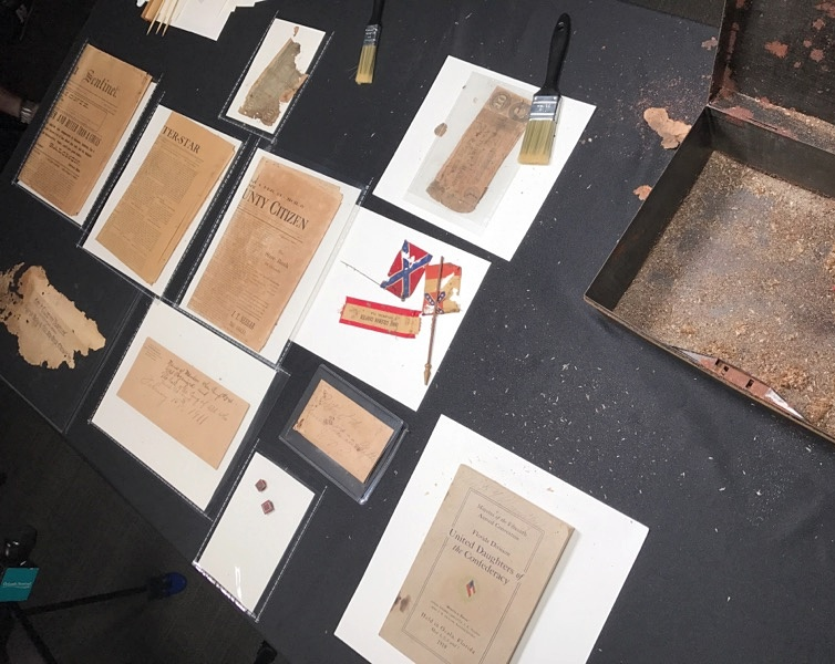 Time capsule found in base of Lake Eola Confederate statue opened