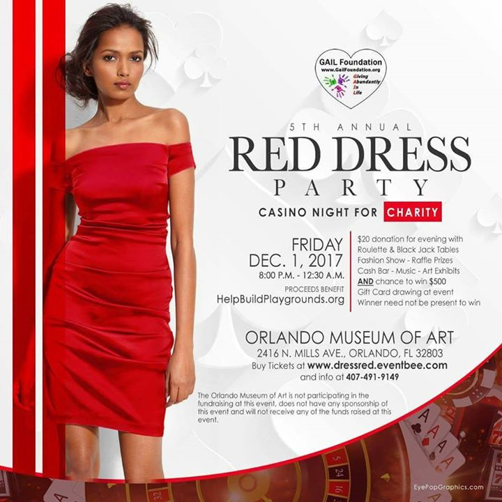 5th Annual Red Dress Party Casino Night For Charity Bungalower