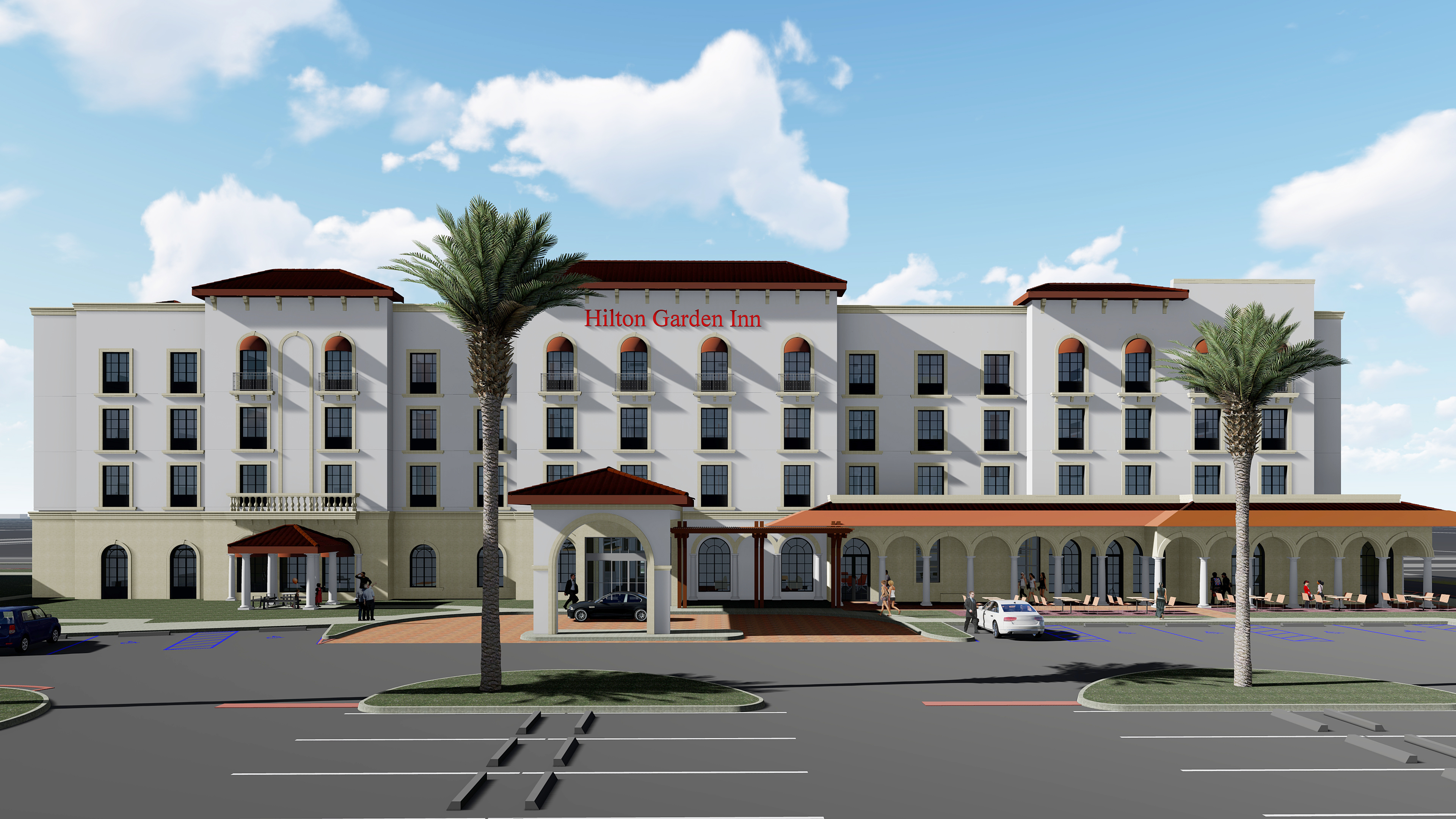 Rendering Via Day Communications. A New Hilton Garden Inn ...
