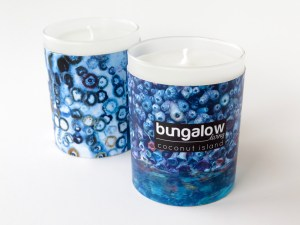 Coconut scented candle