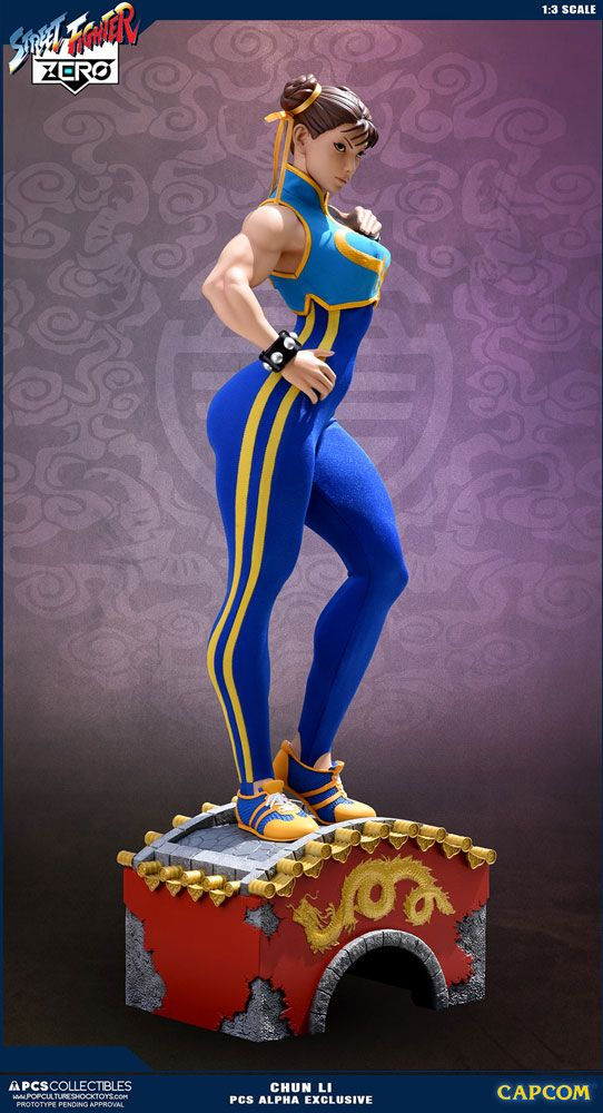 Sale Street Fighter Alpha Statue 1 3 Chun Li Alpha Exclusive 73 Cm Statuen Street Fighter New Year Special Bunker158 Com