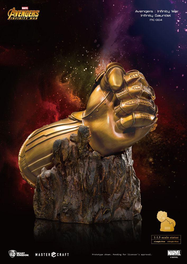 Avengers Infinity War Master Craft Statue 1 1 5 Infinity Gauntlet 40 Cm Beast Kingdom Thanos Marvel Avengers Bunker158 Com