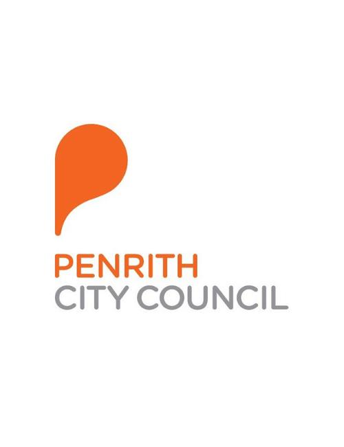 Orange coloured Penrith City Council logo