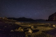 Porteau Cove on a low tide starry night. It's been a while seen I last seen a starry night sky. Exploring on this low tide night wandering around the coastline.