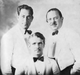 "Paul Whiteman's trumpet section, 1933: L-R Anthony ""Nat"" Natoli, Berigan, Harry Goldfield."