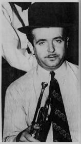 Berigan in March, 1940, soon after joining the Tommy Dorsey band. The derby on his head was used to mute the sound of his trumpet.