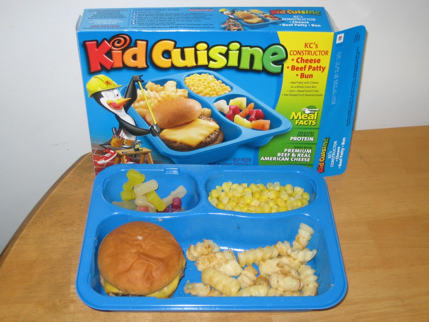 Kid Cuisine burger