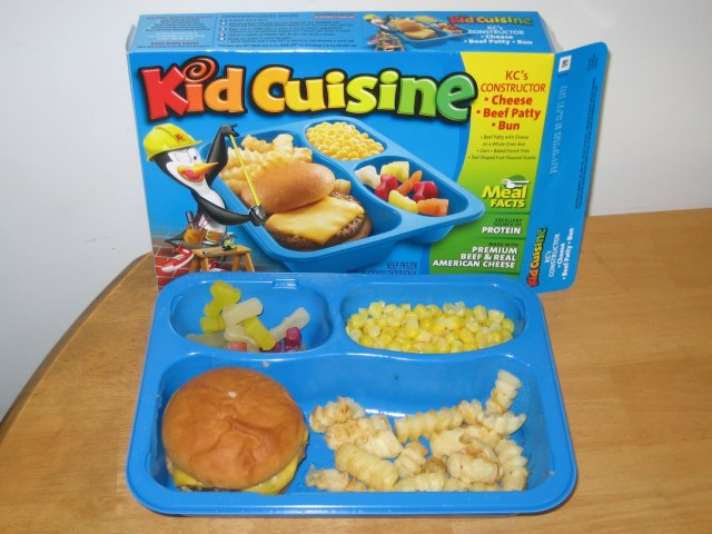 Kid Cuisine burger