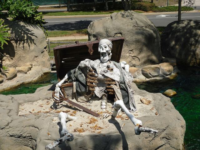 skeletons trying to steal your treasure