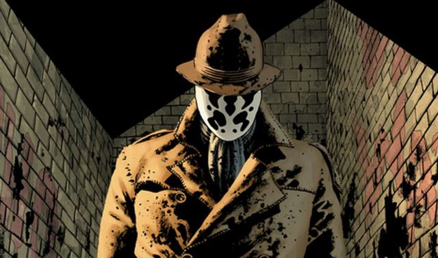 What do you see in Rorschach's mask