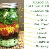 Easy Mason Jar Taco Salad Recipe