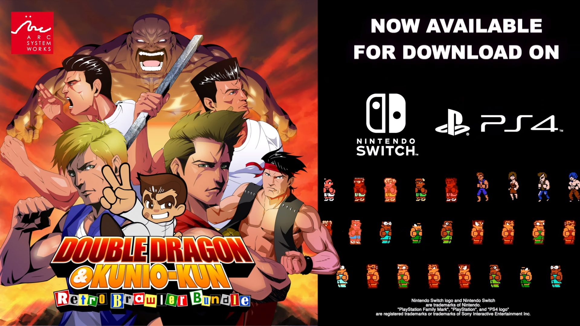 Double Dragon Kunio Kun Retro Brawler Bundle A Collection Of 18 Classic Games Now Available On Switch Ps4 Bunnygaming Com