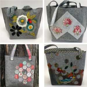 Wooly Felted Tote Bags
