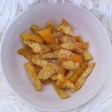 Candied orange peels.