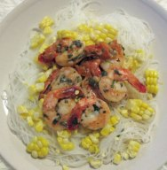Variation 1 with corn kernels and rice vermicelli