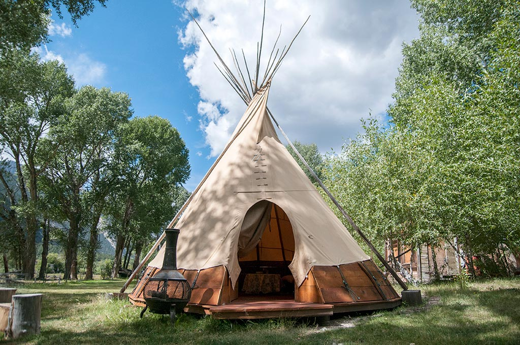 The Tipi  Bunny Lane Cabins