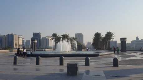 Fountains at the entrance