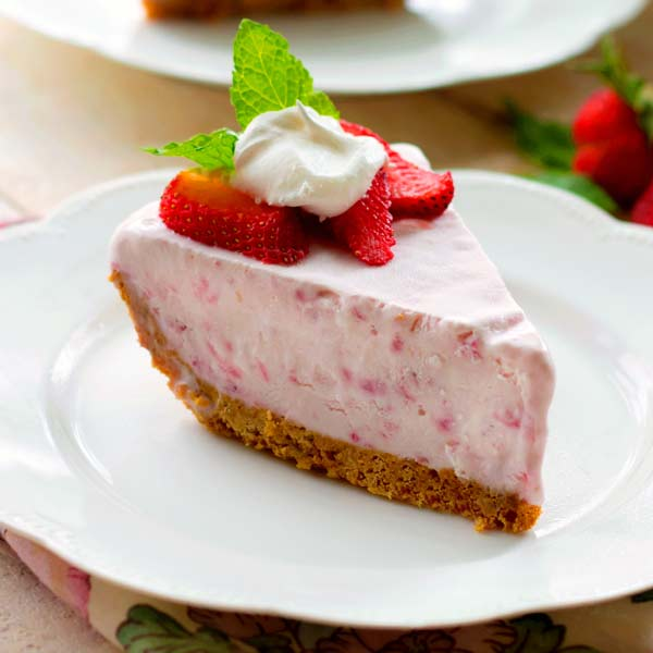 """COOL, DELICIOUS AND SO EASY TO MAKE. THIS PIE IS KEPT IN THE FREEZER UNTIL YOU'RE READY TO SERVE IT. IT'S THE PERFECT MAKE AHEAD DESSERT FOR SUMMER AND WINTER HOLIDAYS OR A """"JUST BECAUSE"""" TREAT."""