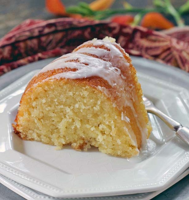 Glazed Lemon Ricotta Cake