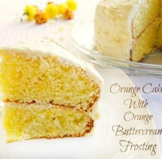 Orange Cake with Orange Butter Cream Frosting