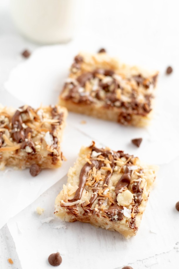 Soft and Chewy Coconut Macadamia Bars