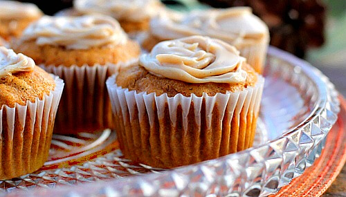 Pumpkin Cupcakes with Browned Butter Frosting