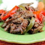 Carne Asada Marinated Sirloin and peppers