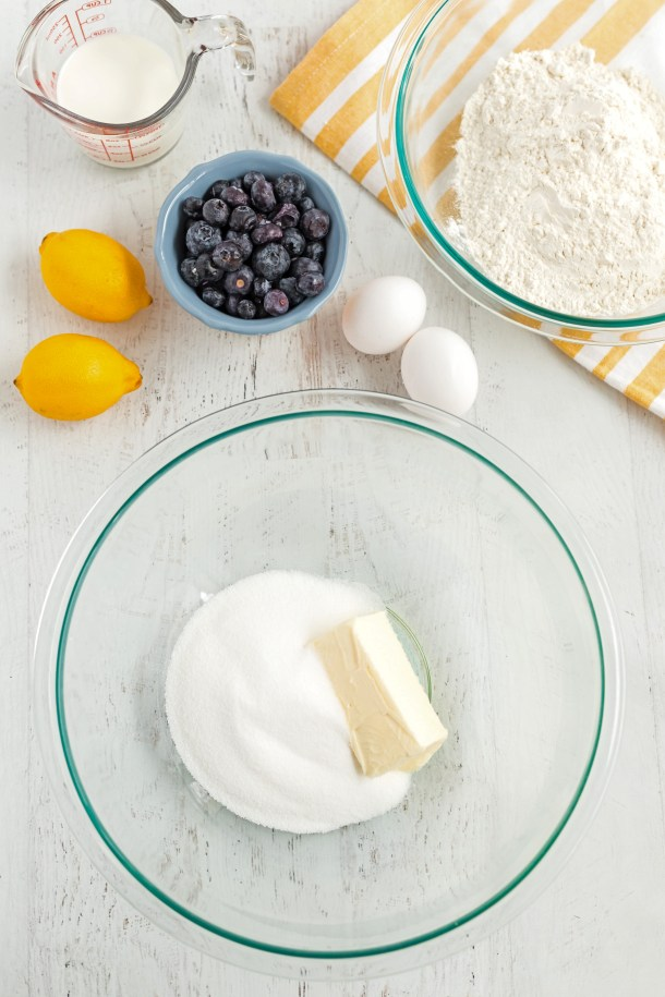 Blueberry Muffins with Lemon Glaze