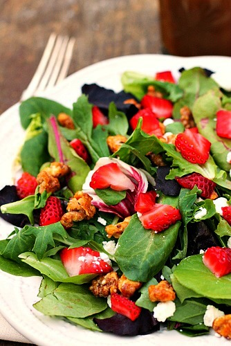 Strawberry Feta Salad with Balsamic Viniagrette