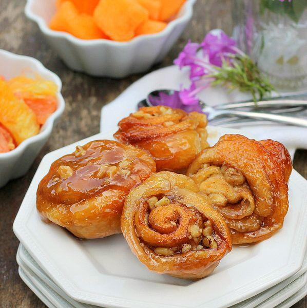 Crescent Caramel Walnut Rolls