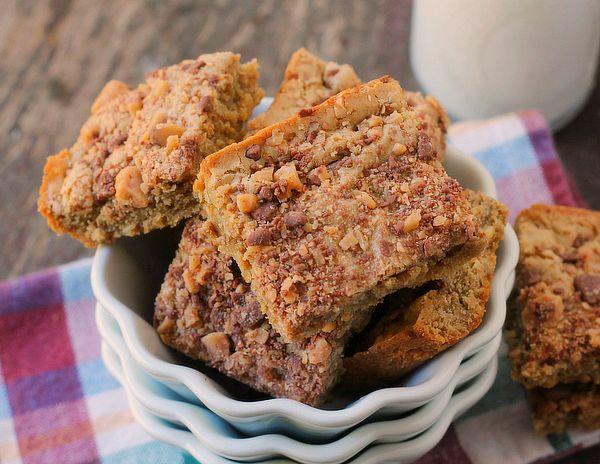 Toffee Walnut Blondies
