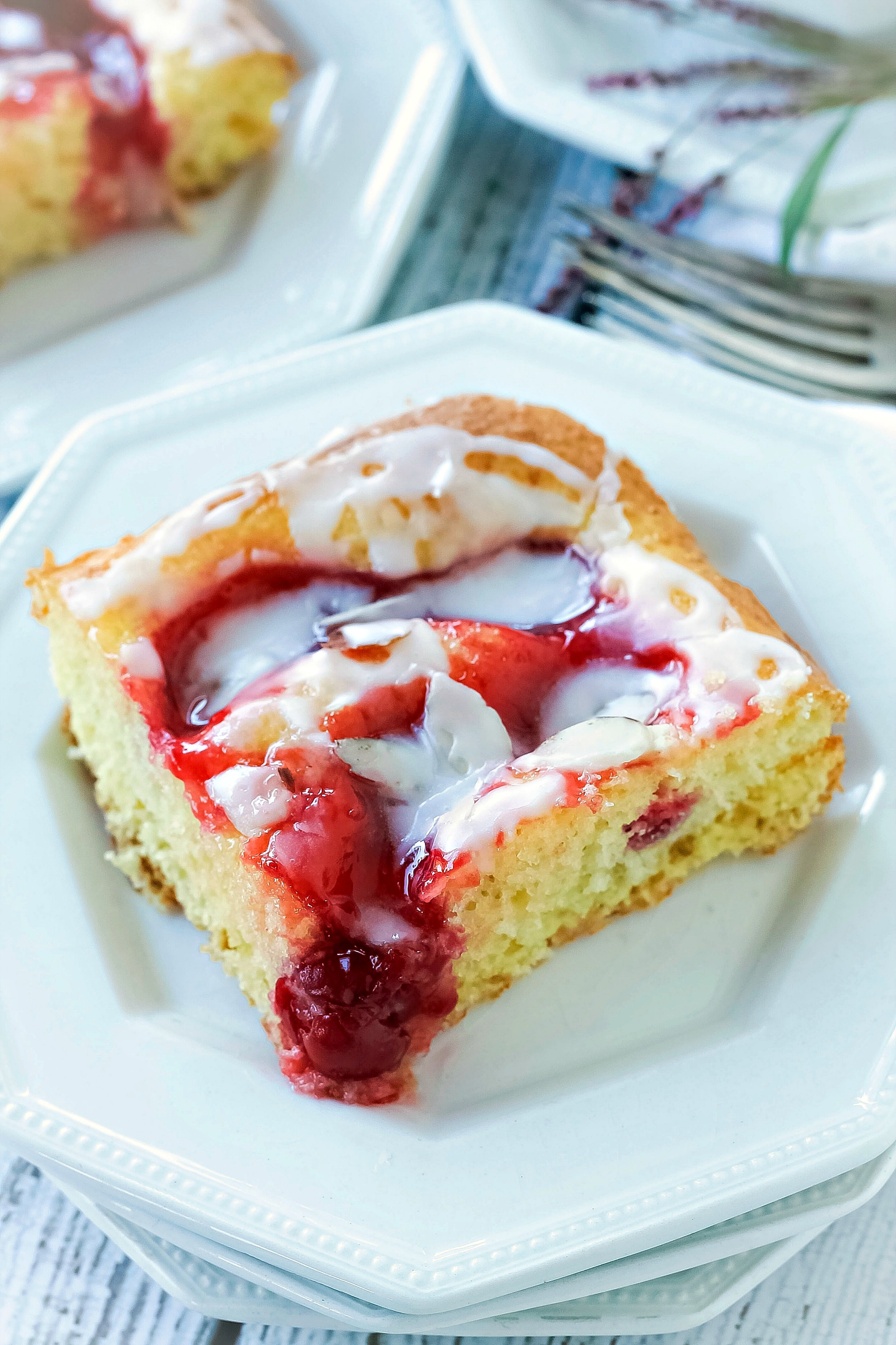 Glazed Cherry Coffee Cake Bunny S Warm Oven