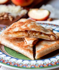 Apple Walnut Gruyere Quesadilla