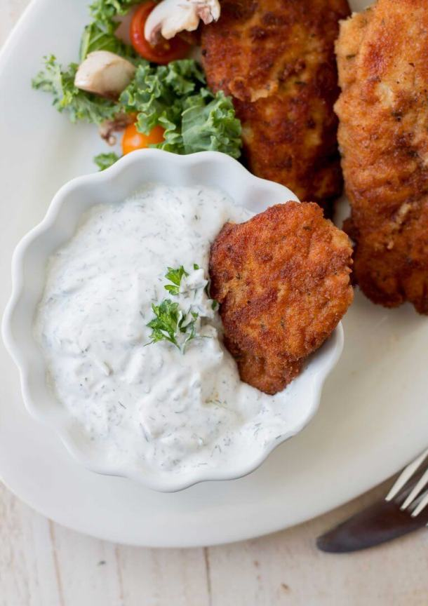 Chicken Tenders with Sour Cream Sauce
