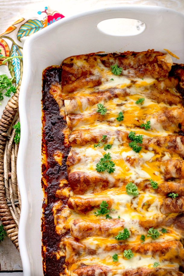 Chicken Enchiladas with Homemade Red Enchilada Sauce ...