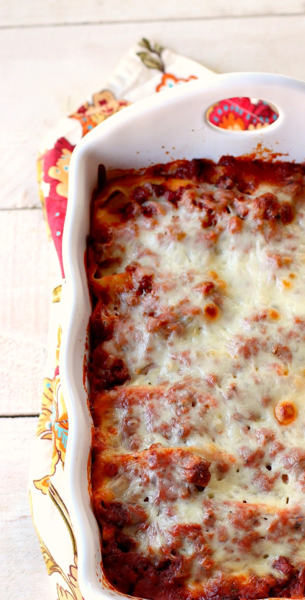 Stuffed Ricotta Shells with Meat Sauce