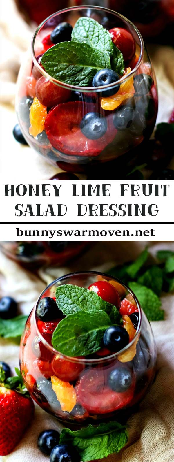 Honey Lime Fruit Salad Dressing gives fresh fruit salad a very bright, fresh flavor. The dressing pairs well with any fruit. Whether you make this dressing and use it with summer or winter fruit, it'll be a wonderful and welcome treat.