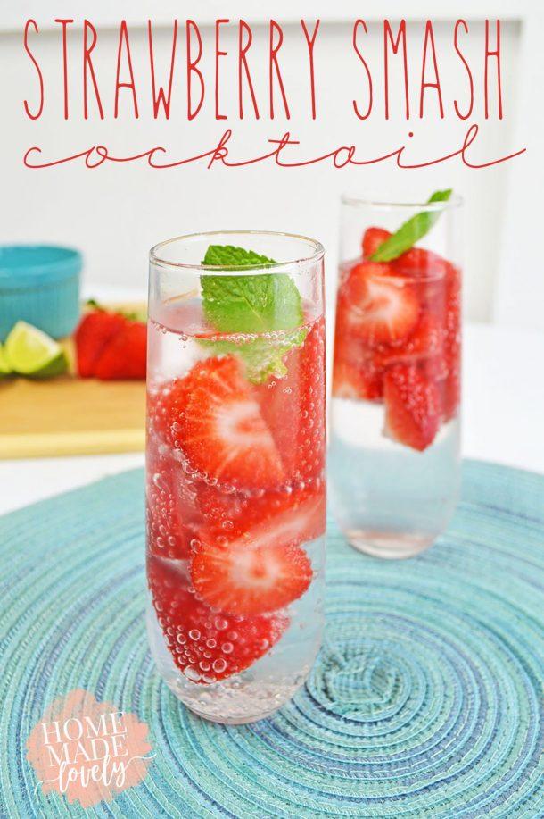 Strawberry Smash Cocktail