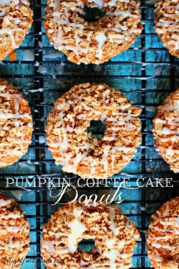 Pumpkin Coffee Cake Donuts